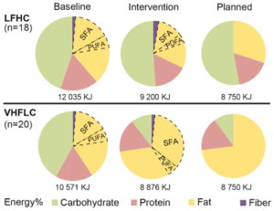 Comparison of Low Vs High Fat Diets in Saft Fat Study 1