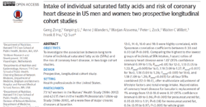 Saturated Fat Study 1